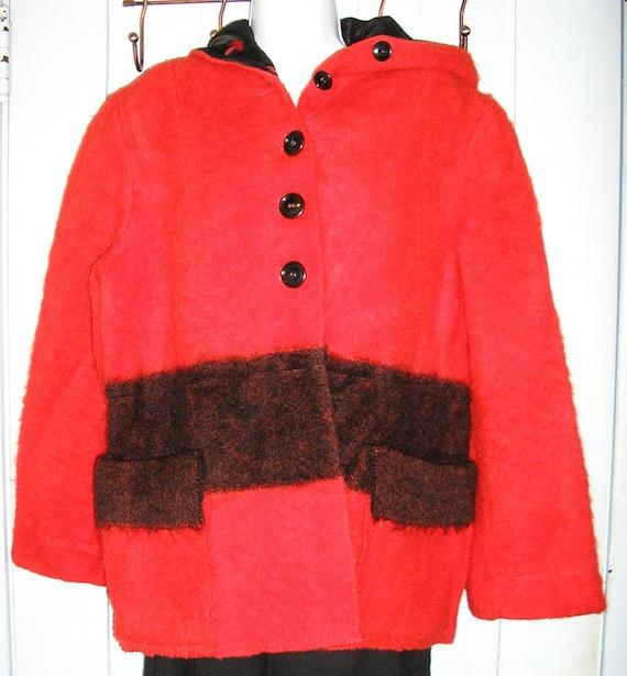 SALE, Vintage 50s, Hudson Bay Point blanket coat,