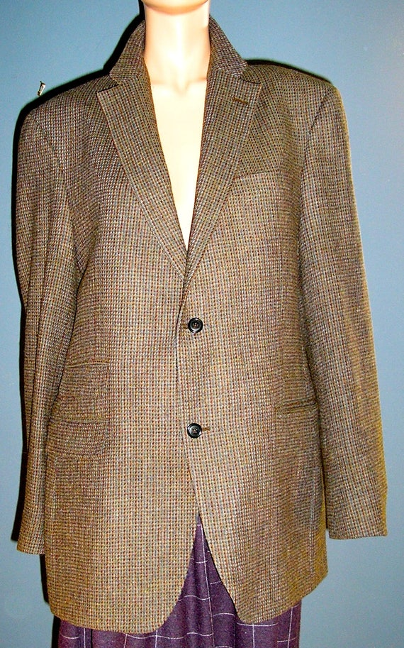 Vintage Austin Reed Wool Tweed Blazer Jacket London Etsy