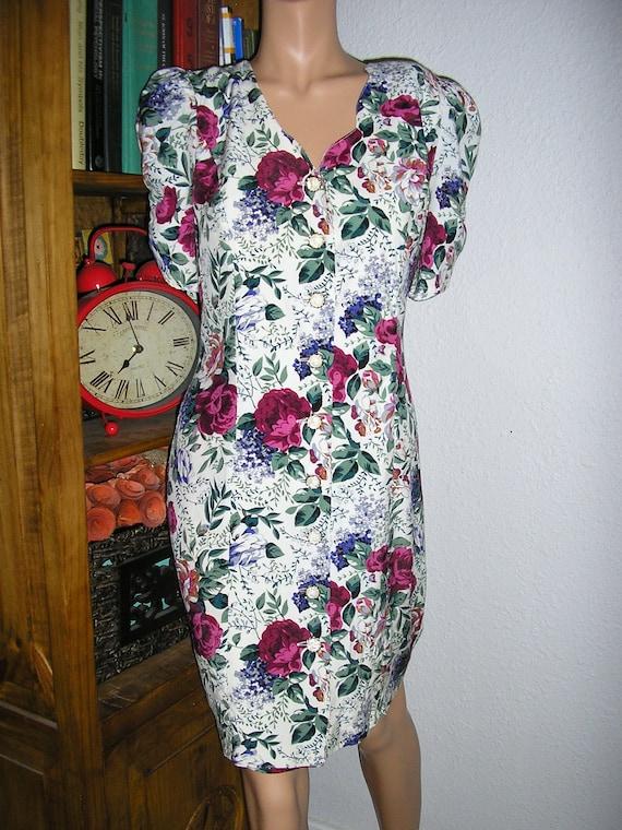 Vintage 80s, floral sheath dress, All That Jazz, p