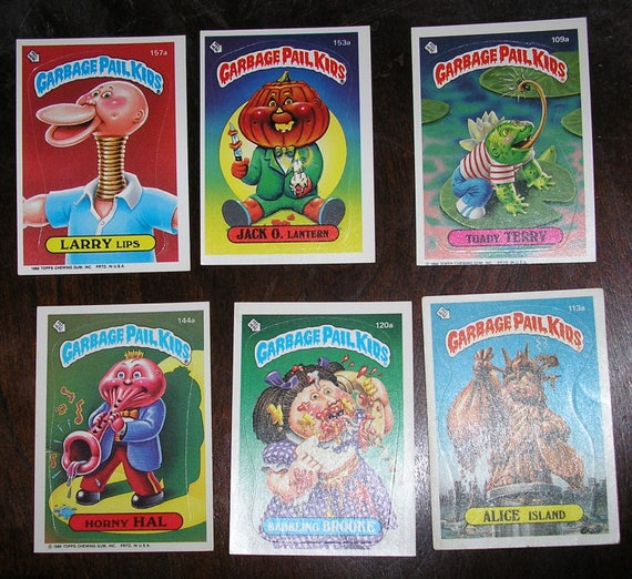 Vintage 85 And 86 Garbage Pail Kids Sticker Trading Cards Etsy