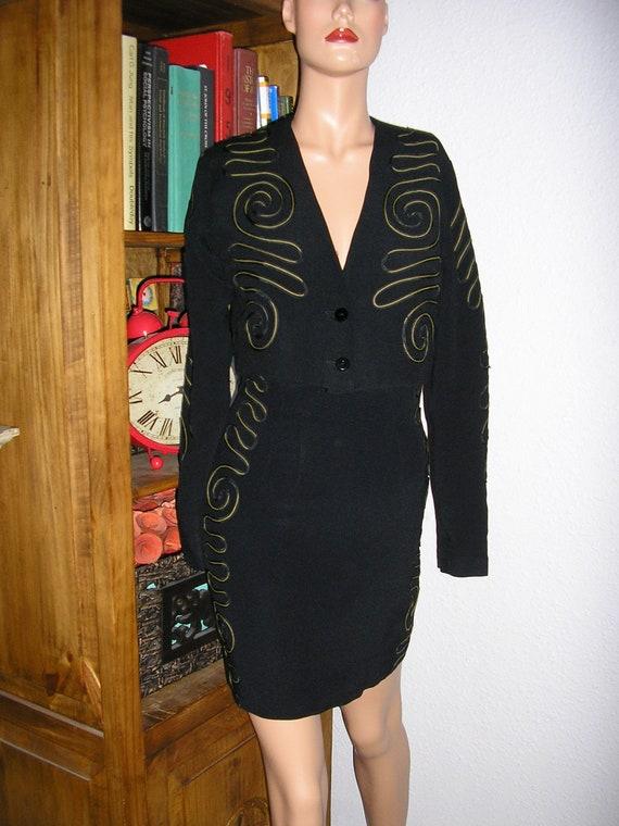 Vintage 70s, Nicole Miller Sport, black suit, bole