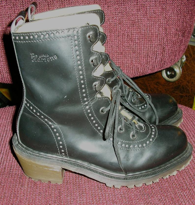d383c9067b0 Vintage 90s Doc Marten black granny boots Made in