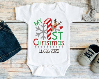 Personalized Hat Outfit Baby Boy My First Christmas