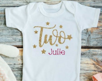 Two year old birthday outfit girl - Girls second birthday outfit - Twinkle twinkle little star second birthday  Second birthday Two year old