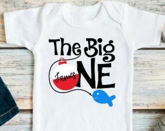 The Big One Fishing Birthday - First Birthday Outfit Boy - First Birthday Boy -  Baby Boy First Birthday Outfit - 1st Birthday Boy Outfit