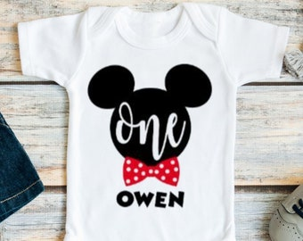 b55db9864 Mickey Mouse Birthday Outfit, First Birthday Mickey Mouse Outfit, Mickey  Mouse 1st Birthday Outfit, Mickey Mouse 1st Birthday Shirt