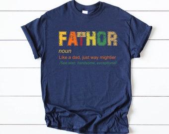952b11b5d Father's Day Shirt // Fathor // Fathor Shirt // Dad Superhero // Dad T Shirt  // Gift for Dad