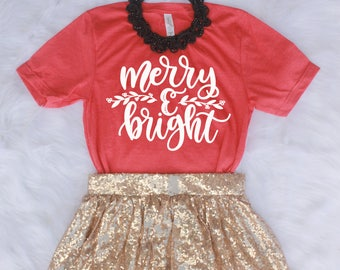 Merry and Bright Shirt // Christmas Shirt // Holiday Shirt