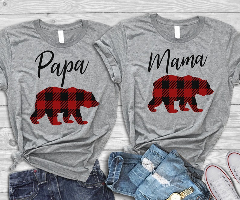 a25acb70 Mama Bear Shirt // Papa Bear Shirt // Plaid Mama Bear Shirt // | Etsy