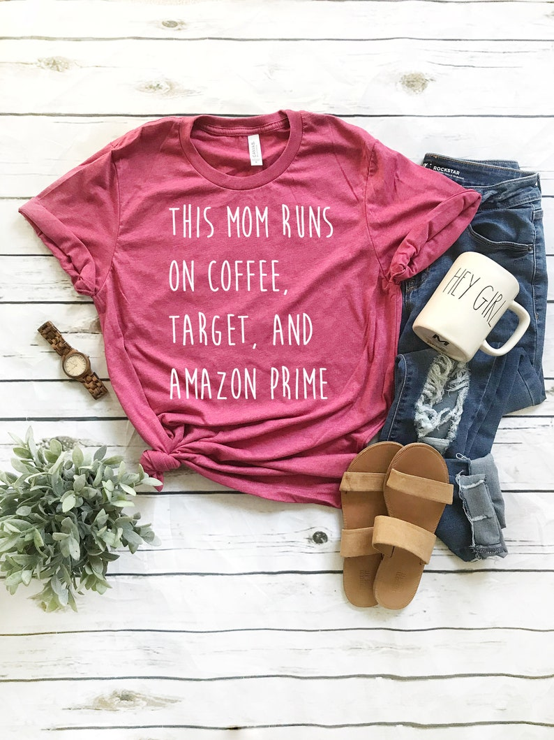 2f0addf30 This Mom Runs on Coffee Target and Amazon Prime // White Ink | Etsy