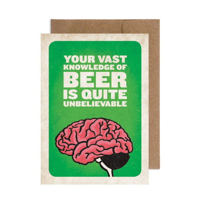 Vast Beer Knowledge  Birthday Card image 0