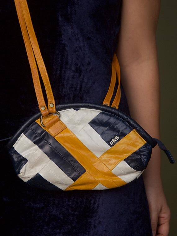Cross body Skunkfunk side bag Colour block bag Eel