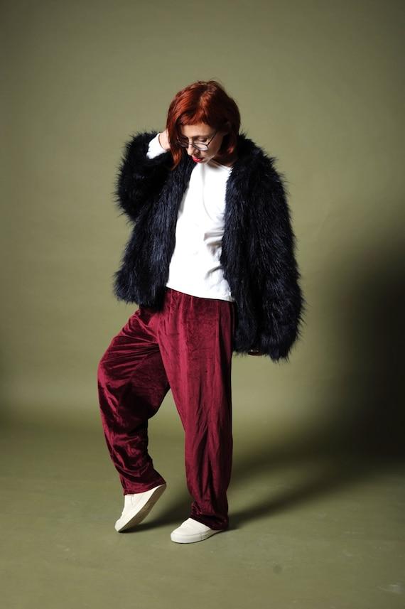 Women's velvet pants Bordo velvet pants Velour paj