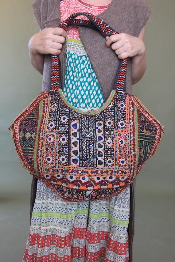 Indian handmade vintage patchwork market bag Quilt