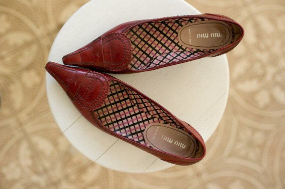 MIU MIU shoes, pointed toe shoes, miu miu pumps, … - image 3