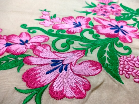 Patch Embroidery Design 2 Sizes Floral Machine Embroidery Etsy