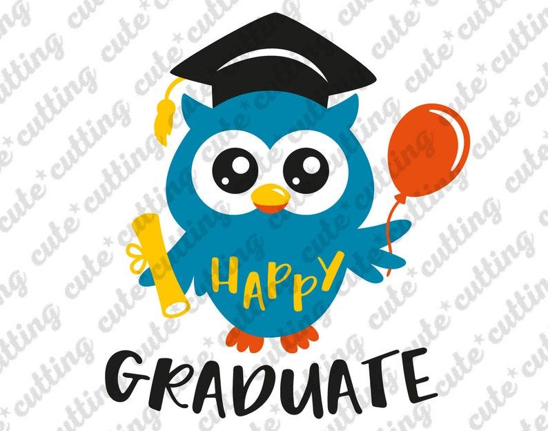 Kindergarten graduation svg, graduation svg, owl svg, graduate svg,  graduation cap svg, pre-k graduation svg, png, dxf, jpeg, pdf