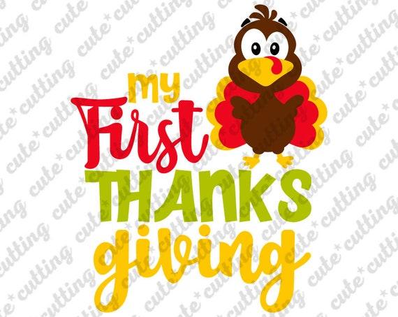 My First Thanksgiving Svg My 1st Thanksgiving Svg Etsy