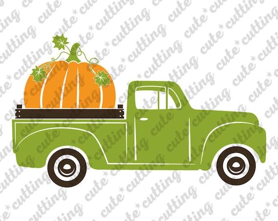 Happy Thanksgiving svg Pumpkin Truck svg Cutting file Silhouette Cameo Cricut eps png Pumpkins Truck SVG Harvest svg Fall truck Svg