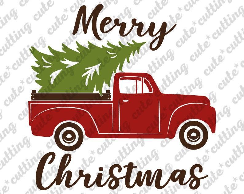 Christmas svg Christmas truck svg Merry Christmas svg tree image 0