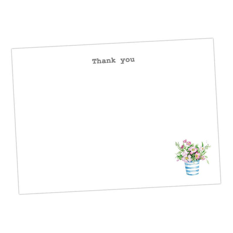 Flower Pot Postcards taken from an Original Watercolour  Notecards  Notelets  Thank you Cards  Blank Cards