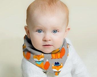 Bandana Bib Boy, Baby Boy Bandana Bib, Bandana Bib, Bandana Baby Bibs, Baby Boy Bibs, Bandana Bib for Boys, Fox Bandana, Fox Baby Gifts, Bib