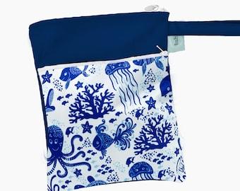 Travel Wet Bag -Bright Arrows- Optional Strap Available- Bikini Bag Cloth Diaper Bag Menstrual Care Bag Baby Gift