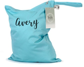 Wet Bag Personalized, Personalized Baby Gifts, Personalized Beach Bag, Wet Bag for Cloth Diapers, Wet Bag for Swimsuit, Wet Bag for Kids