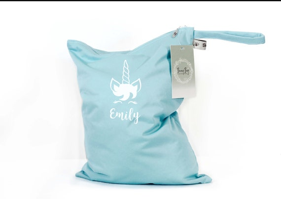 Personalized Wet Bag Unicorn Bag Wet Bag Gifts for Baby Girl Personalized Unicorn Bag Personalized Wetbag Unicorn Gifts for Girls