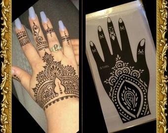 Henna Stencil Etsy