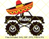 Cinco de mayo svg sombrero svg PNG maracas svg mexican hat svg fiesta men shirt mexico boy monster truck svg printable clipart dxf cut files