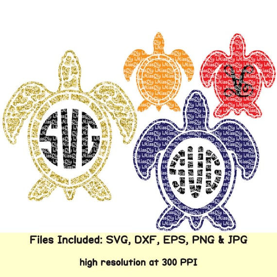 Baby sea turtle svg Hawaii turtle svg summer beach tropical aloha monogram  svg files for cricut silhouette clip art decal Eps Dxf cut file