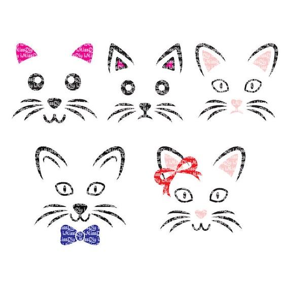 Cat Ears Face Svg Cats Kitty Kitten Cute Lover Lady