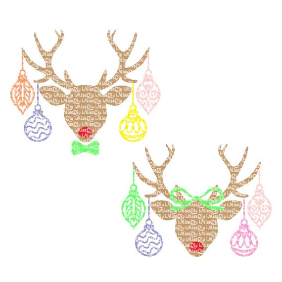 Christmas Bundle Trees Santa Reindeer Elf Girl Elf Dotted Frame Christmas Design Commercial Use SVG Clipart /& Cut File Instant Download
