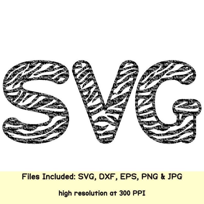 Zebra print svg letters svg Monogram Font svg Alphabet Letters Svg files  for Cricut Silhouette birthday shirt eps Dxf CUT FILE digital fonts