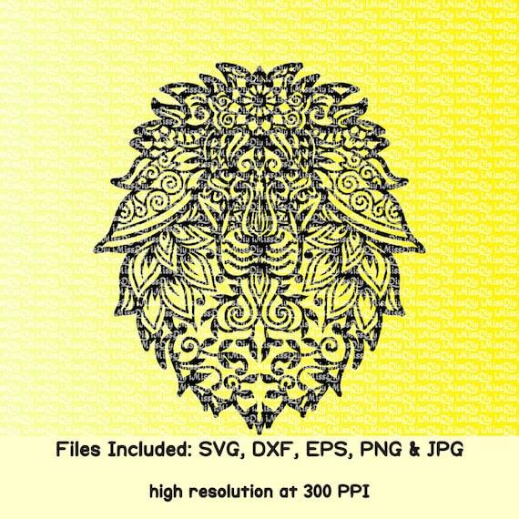 Download Mandala Lion svg head Zentangle animal face pet lover boho ...