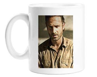 The Walking Dead Gift Mug - Rick Grimes - TV And Film - Coffee Mug - Personalised Gift Mug - 10 Ounce - White Porcelain Mug - Unisex Gift