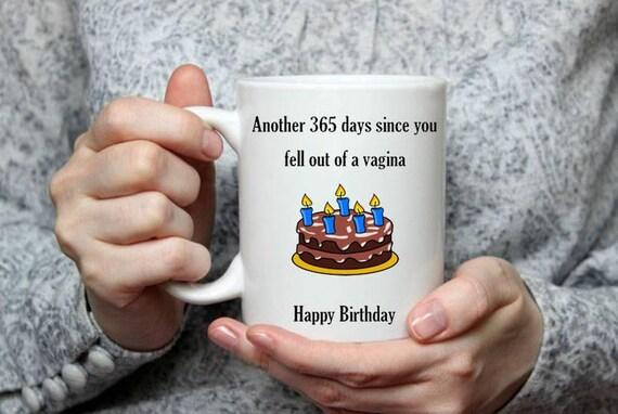 Birthday Gift Mug Rude Naughty Present For