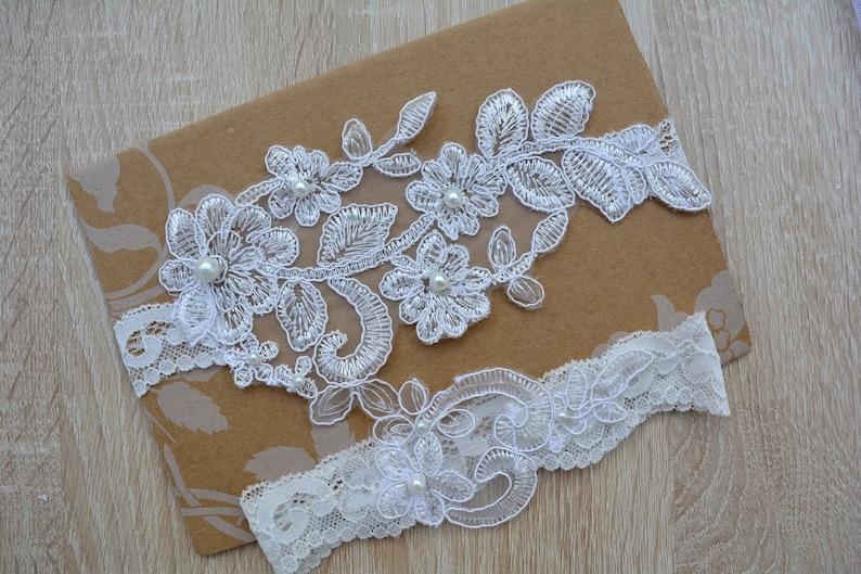 Lace Garter Wedding Gift Wedding Lingerie Wedding Garter Garter Bridal White Garter Set Bridal Garter Set Off White Garter Garters
