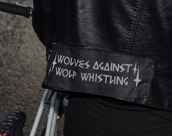 Reflective Sew-on Patches - Wolves Against Wolf Whistling Lucky Dip x2