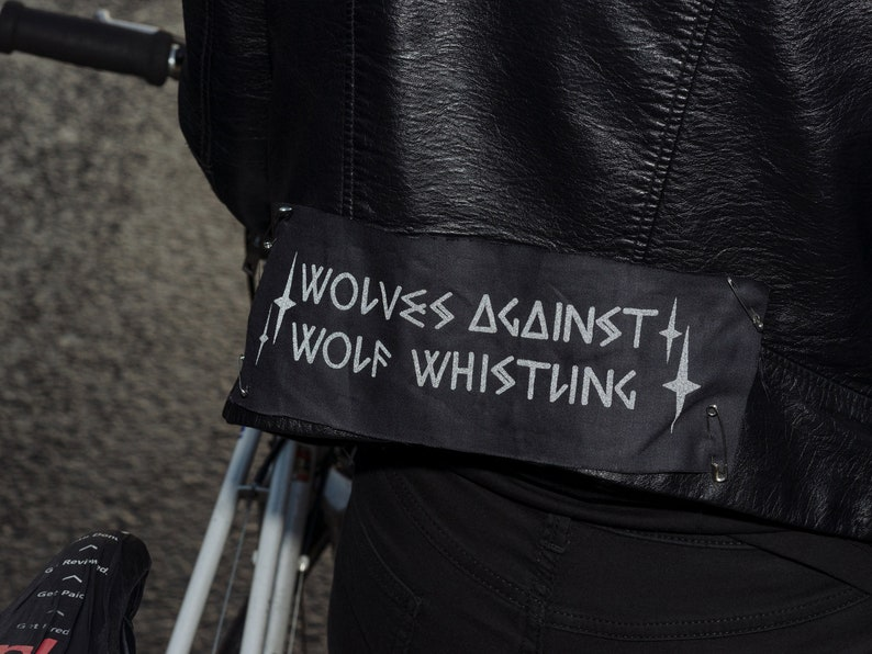 Reflective Sew-on Patches  Wolves Against Wolf Whistling image 0