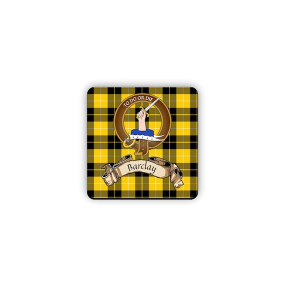 Scottish Clan Tartan Mouse pad with Barclay Clan Crest Barclay