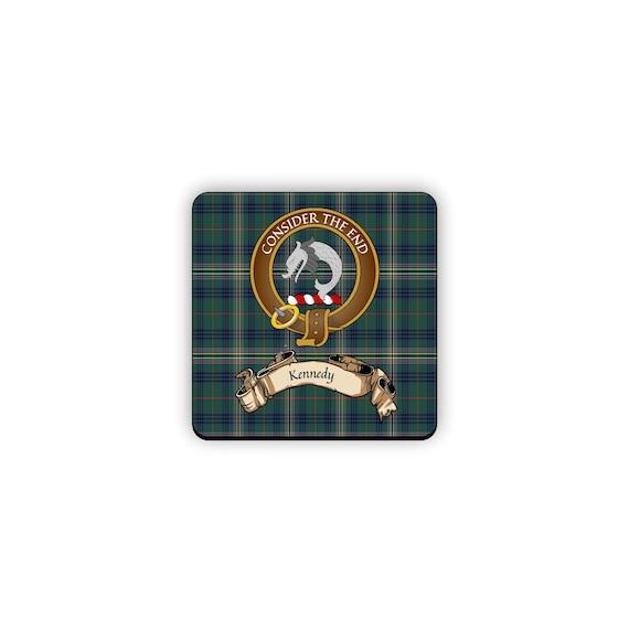 Kennedy Scottish Clan Crest Cuff Bracelet
