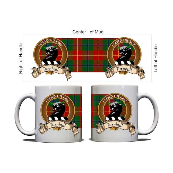 Turnbull Scottish Clan Dress Tartan Motto Crest Rubber Drink Coaster