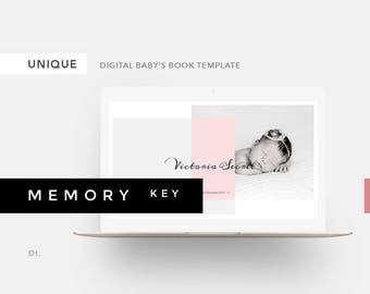 memory baby book template powerpoint template baby photo etsy
