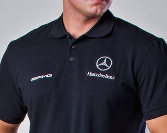 Mercedes Benz AMG Polo shirt, Embroidery logos