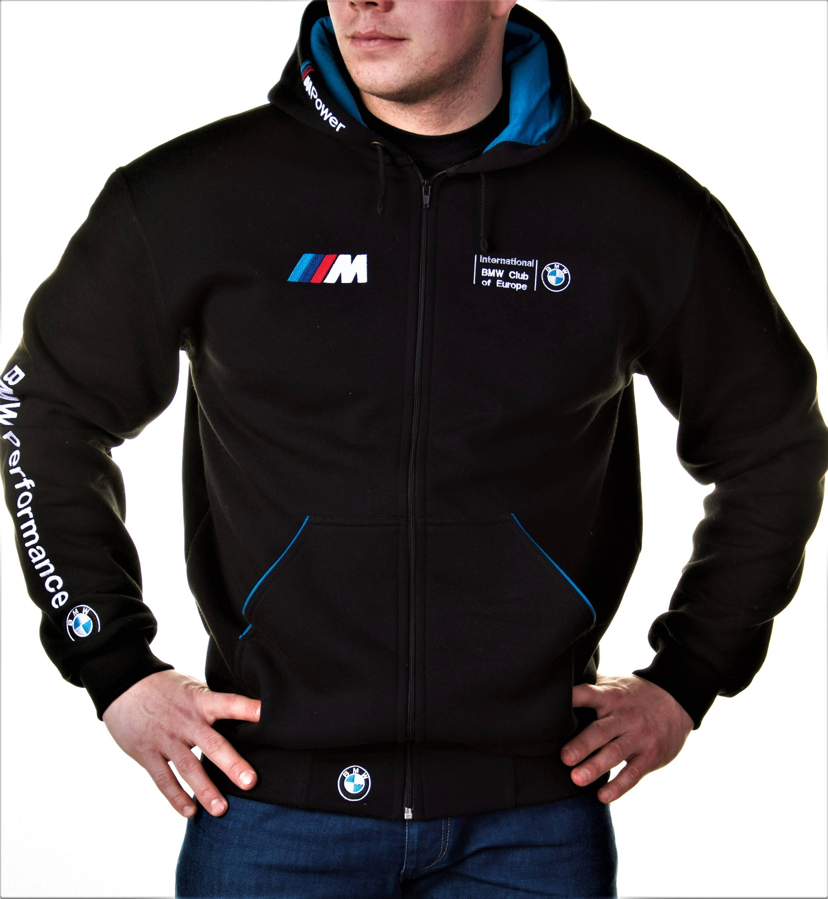f8b8b134e4 Zip Hoodie BMW, M Power, Motorsport, Embroidery logos, Best offer.