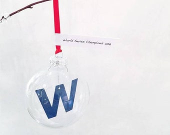 "Go Cubs Go ""W"" Ornament"