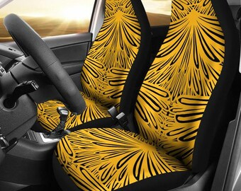 Pittsburgh Steelers Art Deco Pittsburgh Steelers Steelers  Football Football Micro Fiber NFL Car Seat Covers SUV Seat Covers  Black Yellow 13e841a1d