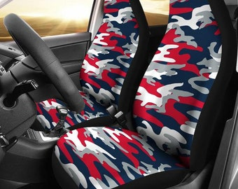 New England Patriots Camo New England Patriots Patriots  News Football Football Micro Fiber NFL Car Seat Covers SUV Seat Covers  Blue Red 0604471b1
